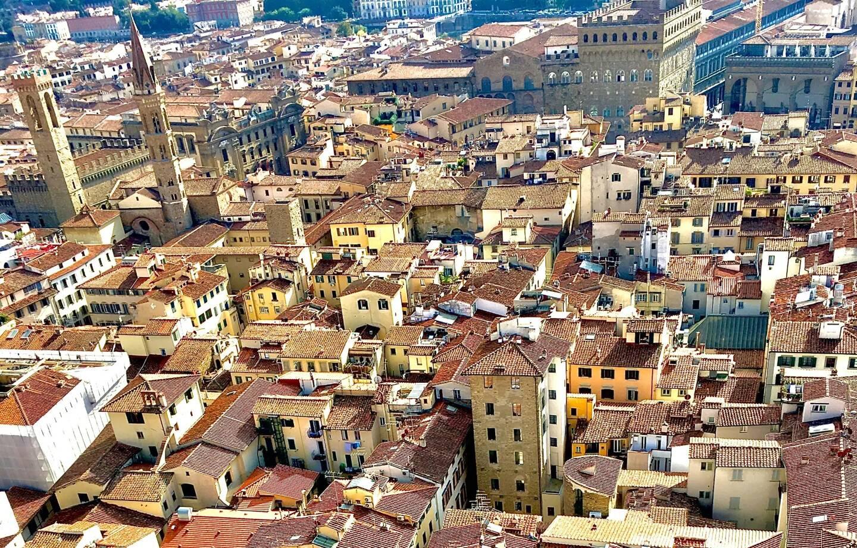 La vieille ville de Florence, en Toscane, depuis le duomo de la cathédrale Santa Maria del Fiore.