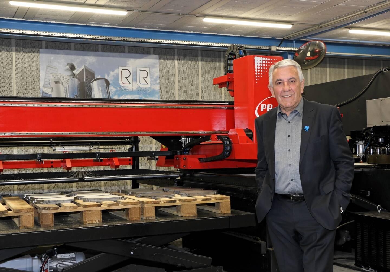 Marcel Ragni, président de la société Ragni, entreprise spécialisée dans la conception et la fabrication de matériel d'éclairage public.