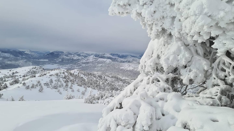 La station sous la neige.