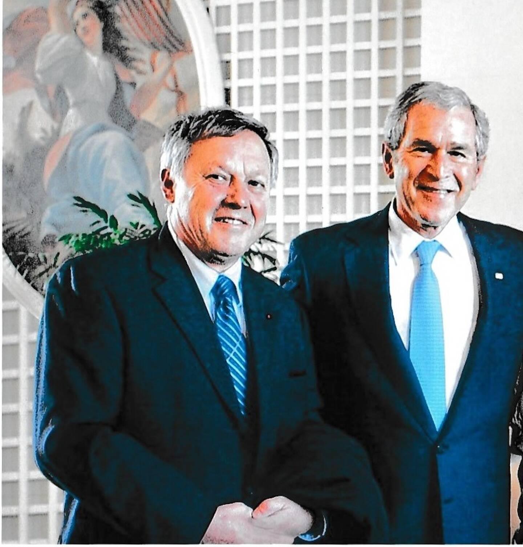 """""""George Bush m'a fait remarquer que nous avions le même prénom et les mêmes initiales"""""""