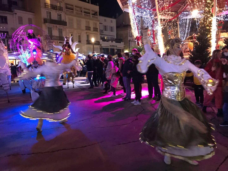 Le marché de Noël à Cannes.