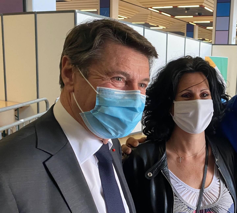 Lauriane, assistante maternelle de 48 ans, a été vaccinée au Palais des expositions grâce aux doses non utilisées. Elle était inscrite sur la plateforme de la métropole.