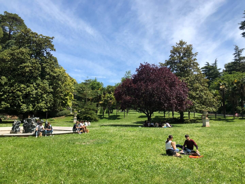 Pas d'effet déconfinement sur le campus Valrose, à Nice.
