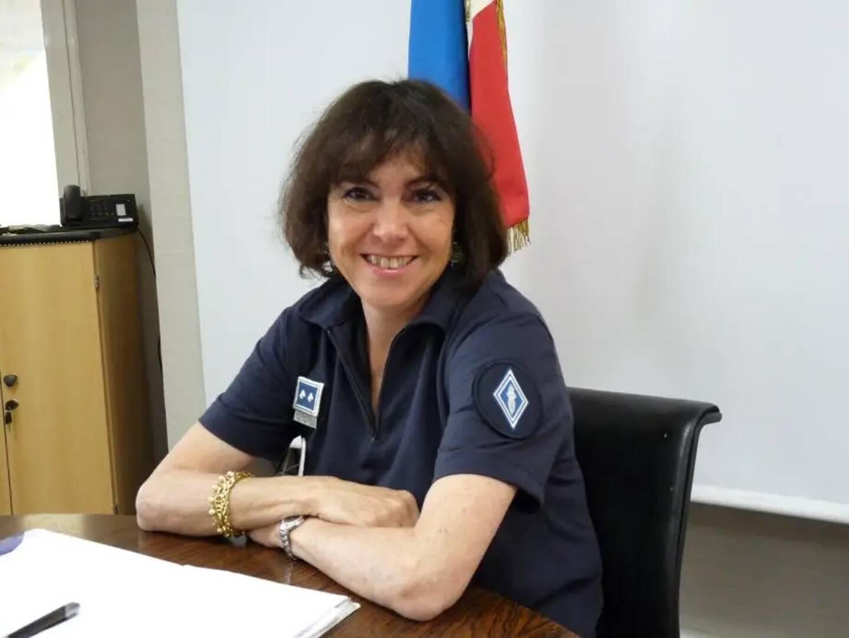 Marie-Joséphe Mazel, patronne de la CRS Sud.