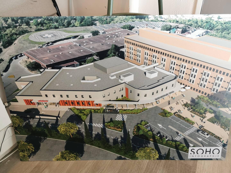 Les plans du futur hôpital de Grasse