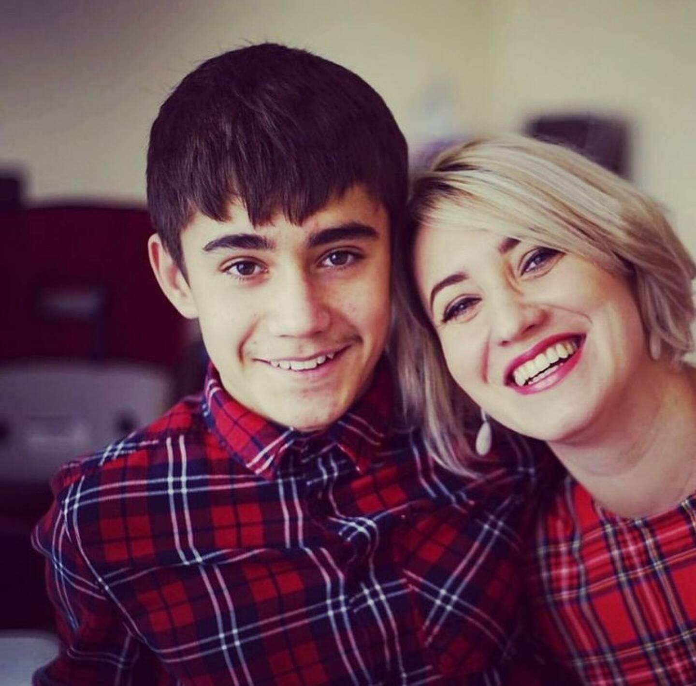 Yuriy et sa maman Nataliya