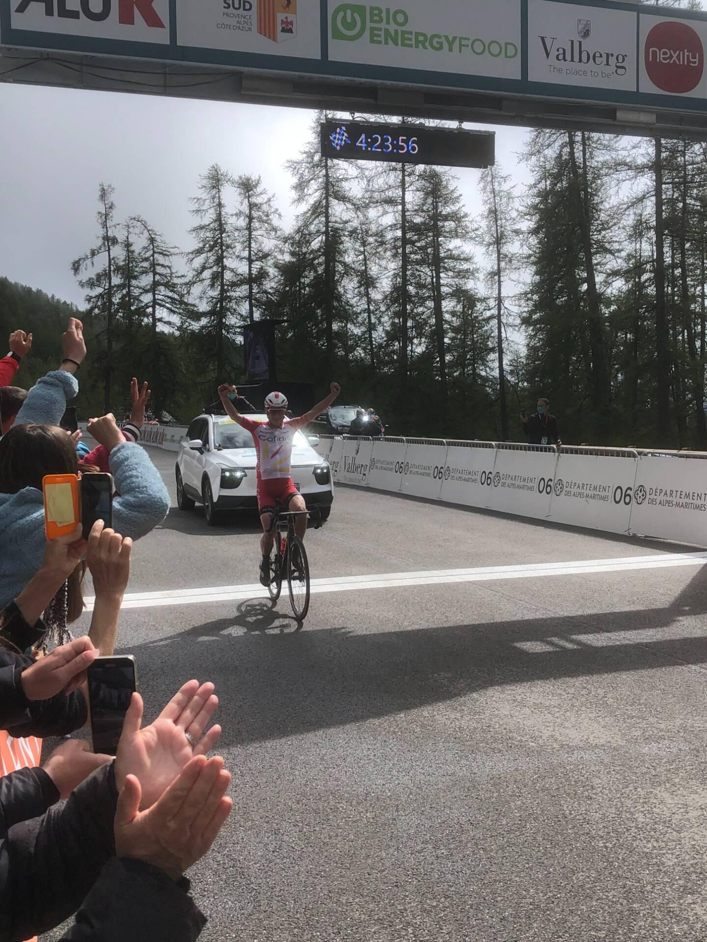 Guillaume Martin remporte la première édition de la Mercan'Tour Classic Alpes-Maritimes à Valberg.