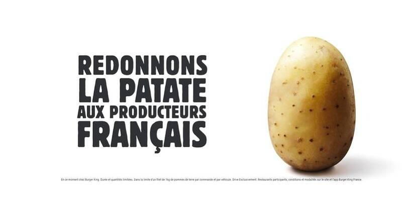 Burger king redonne la patate aux producteurs français en offrant un pack d'un kilo lors d'une commande - Nice-Matin