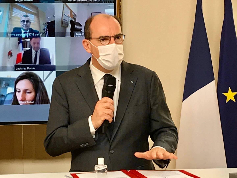 Jean Castex a Matignon le jeudi 15 avril 2021.
