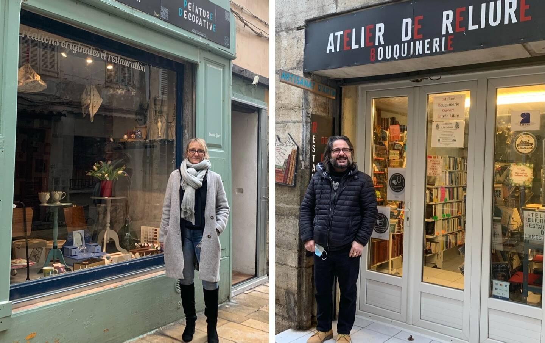 Myriam et Aurelio Ferreri, tous deux artisans, ont profité du dispositif de préemption de locaux par la Ville de Draguignan, qui les loue ensuite à des tarifs intéressant afin d'instaurer une rue à thème.