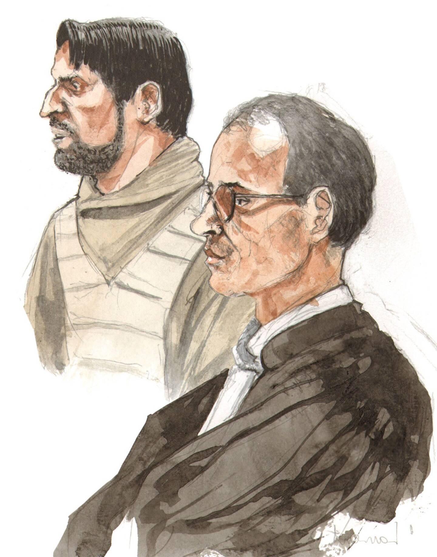 Dans sa vie, Christ Dhyser (ici derrière son avocat Me Beaugrand) aura eu deux liaisons amoureuses sérieuses. Les deux fois, elles ont connu leur conclusion devant la cour d'assises du Var...