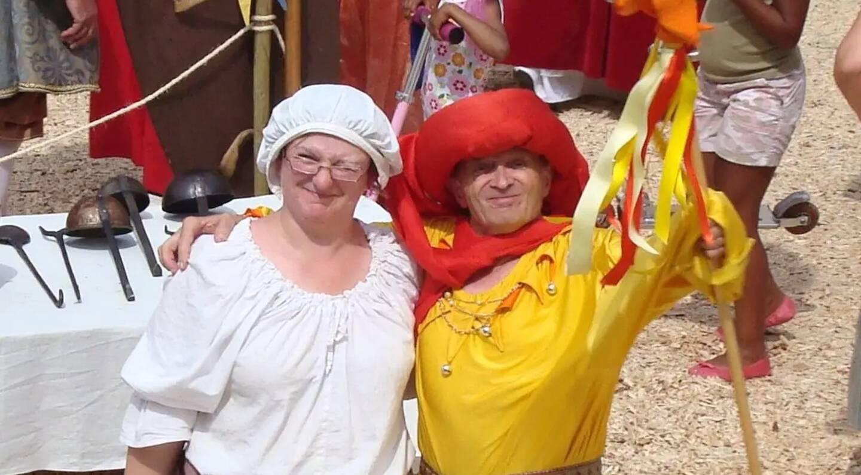 Ici, en 2019, lors des Soirées de la Renaissance à Villeneuve-Loubet, le passionné de théâtre, Mario Marengo, était déguisé en habits de Triboulet, le fameux fou du roi François 1er.