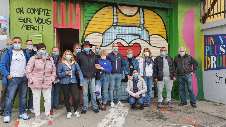 Une partie de l'équipe s'était réunie mardi pour un rappel du protocole sanitaire à respecter.
