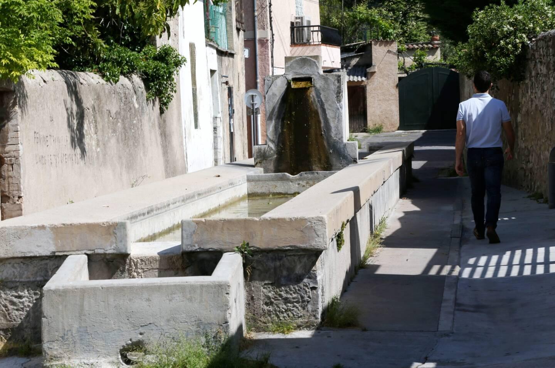Le lavoir Folletière à Draguignan.