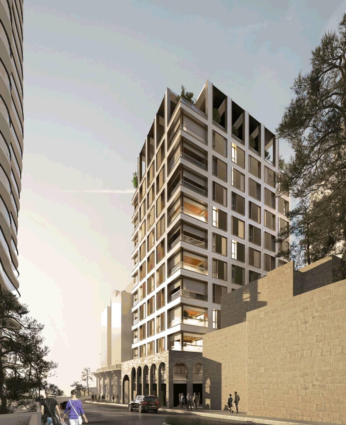 L'immeuble Carmelha abritera 25 logements domaniaux et culminera à 43 mètres de haut, si l'on se place côté boulevard d'Italie.