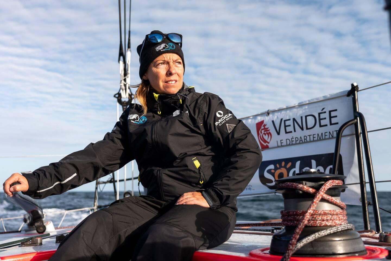 Alexia Barrier lors du dernier Vendée Globe.