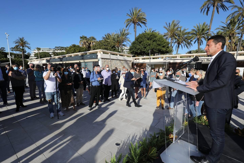 David Lisnard faisait face à la foule des grands jours sur le nouvel espace Grand Large
