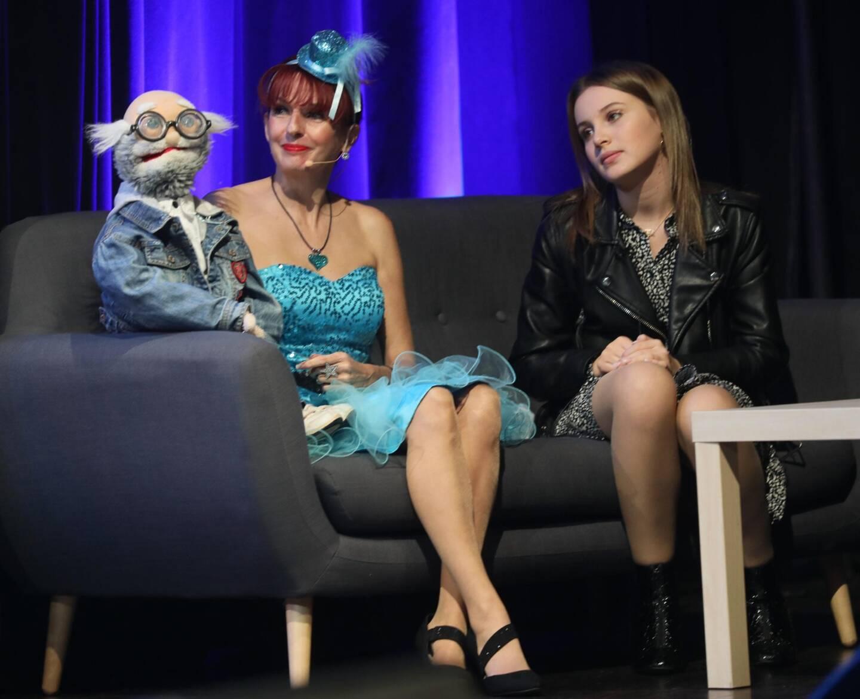 Carla Lazzari (à droite) et le duo Ciboulette et Oscar (à gauche) ont participé à la fête.