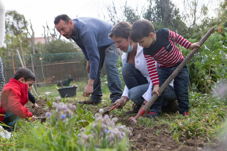 Deux fois par semaine, qu'importe la météo, les petits se transforment en apprentis jardiniers. Ils cultivent toutes sortes de légumes, qu'ils peuvent ensuite cuisiner et déguster à l'école.