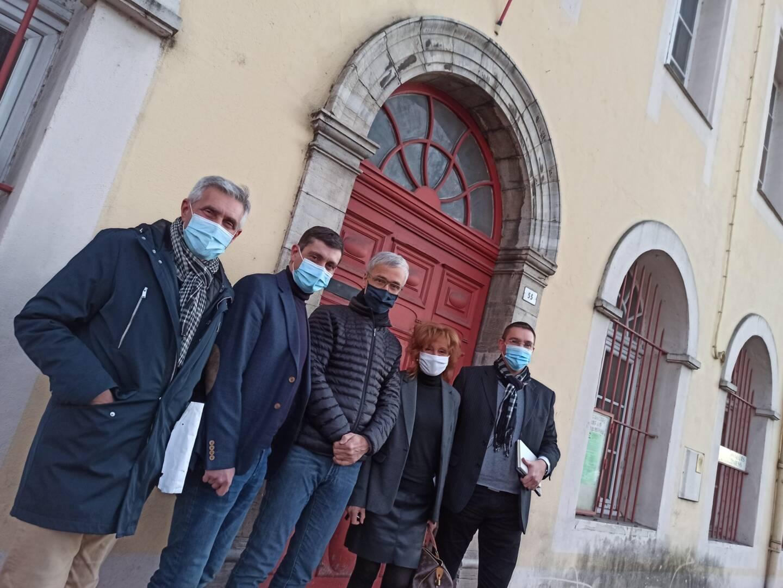 De gauche à droite: Jean-Daniel Santoni, Jean-Bernard Miglioli, René Dies, Christine Villelongue et Mathieu Werth.