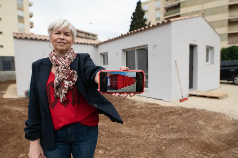 La maison de Chantal Dejean est composée de quatre containers afin d'atteindre la surface de 86 m2.