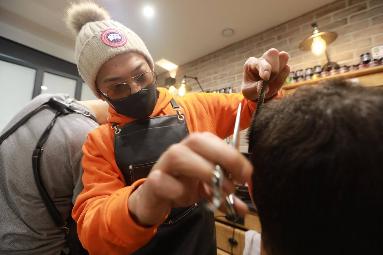Illsutration d'un salon de coiffure.