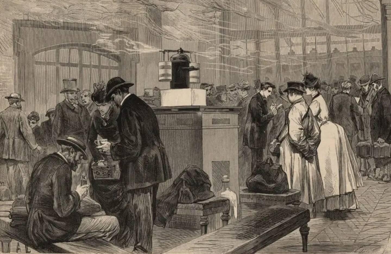 Des contrôles sanitaires à l'arrivée à Paris en provenance de notre région, en 1889.