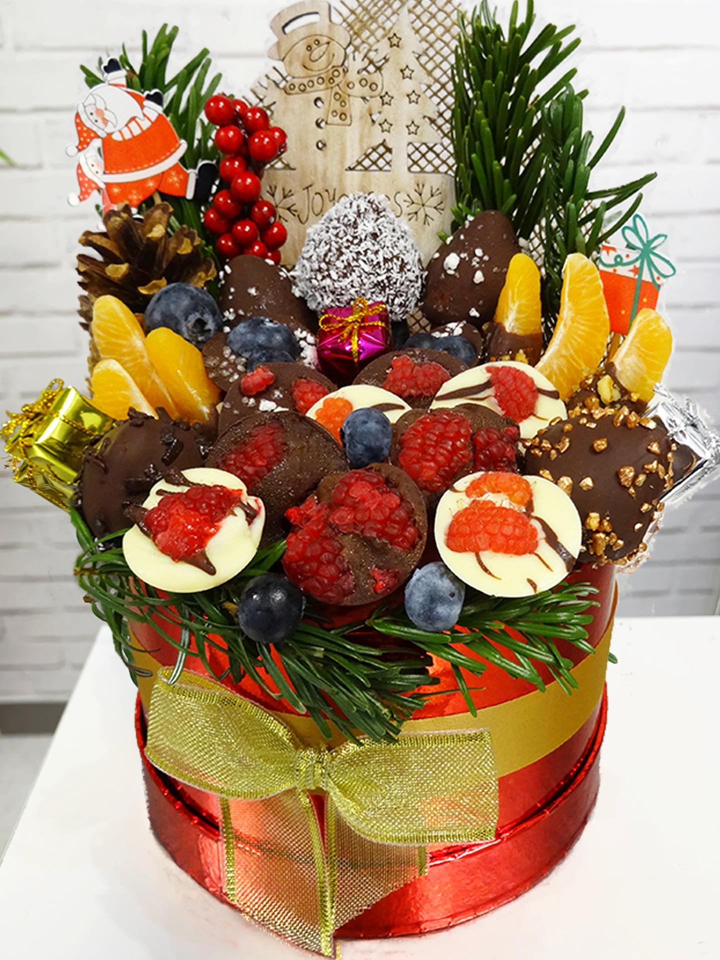 De dix à douze fruits entrent dans la composition de ces délicieux bouquets.
