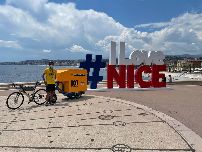 Des livraisons de matériels en vélo et remorque électriques? Kiloutou le fait à Nice (aussi).