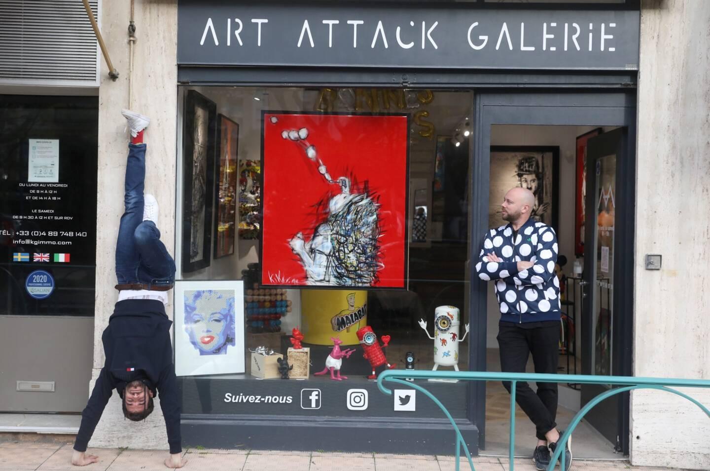 Hugo et Fabien veulent d'une galerie à leur image: délurée et accessible.