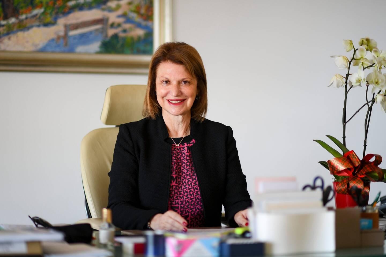 Isabelle Bonnal, dans son bureau à la direction de l'Education nationale.
