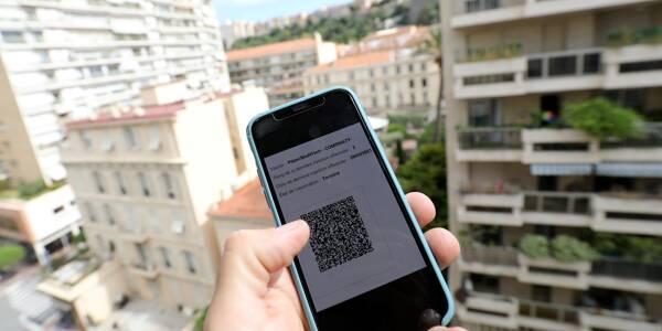Le pass sanitaire sur un smartphone utilisant l'application TousAntiCovid.
