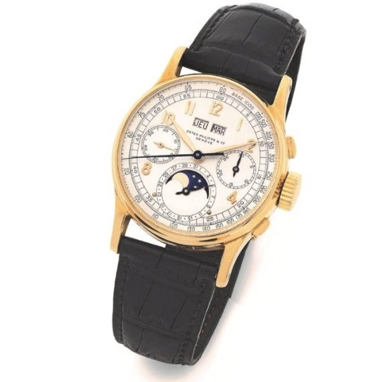 Ce chronographe bracelet en or jaune 18k, datant de 1943, est estimé entre 300.000 et 600.000 eiros.