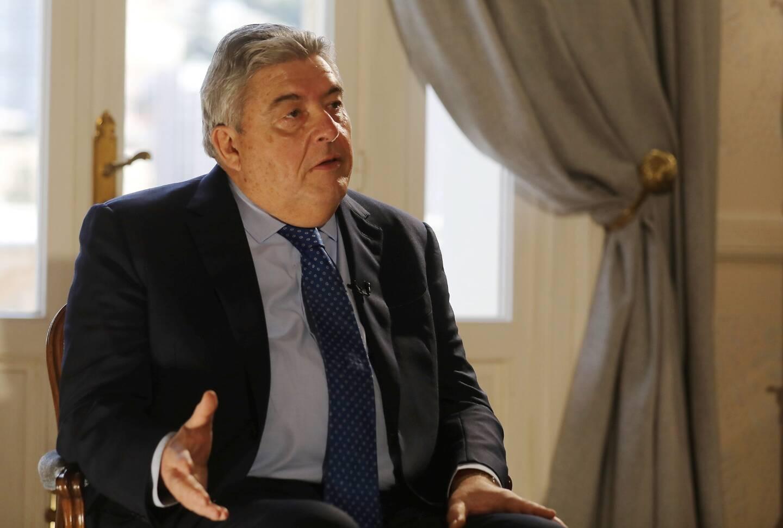 Pierre Dartout sur le plateau de l'émission enregistrée au ministère d'État.