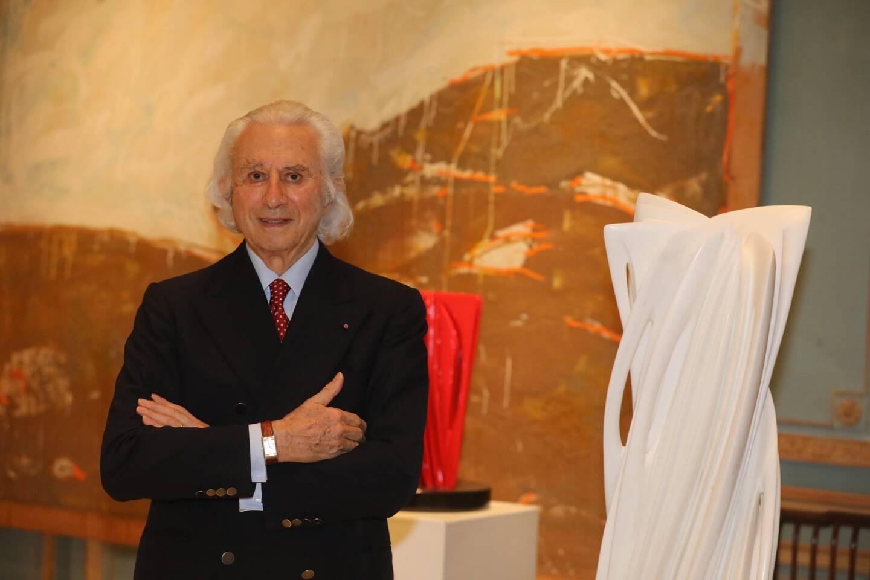 Le galeriste Adriano Ribolzi dans son antre de Monte-Carlo.