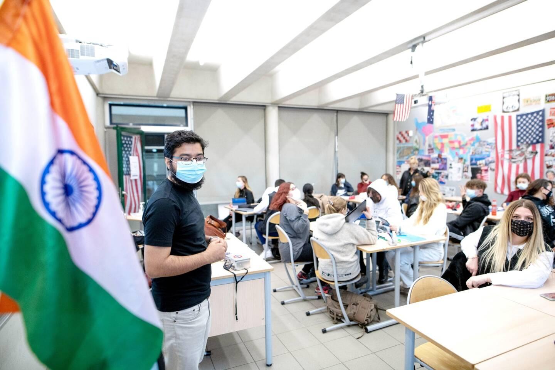 Depuis le mois d'octobre, Umair Mohammed Syed est assistant de langue au lycée Camus.