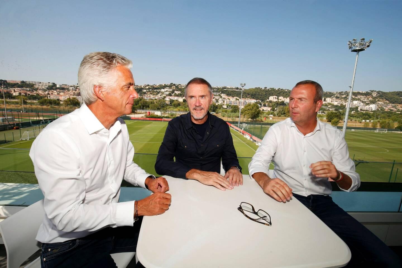 Bob Ratcliffe au centre entretient d'excellentes relations avec Jean-Pierre Rivère et Julien Fournier.
