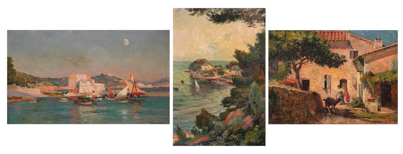 Un fonds de l'atelier du peintre toulonnais Louis Lamontagne, adjugé 20;000 euros au total.