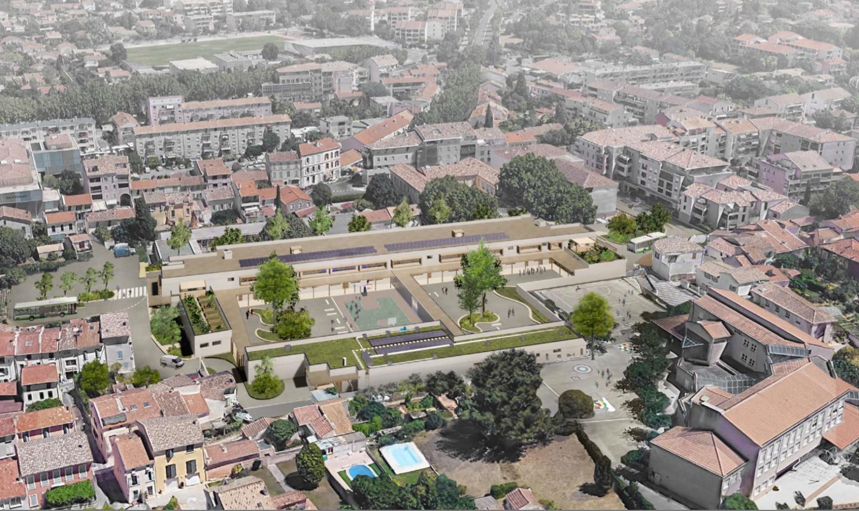 Les deux écoles seront séparées par un mur et le réfectoire commun.