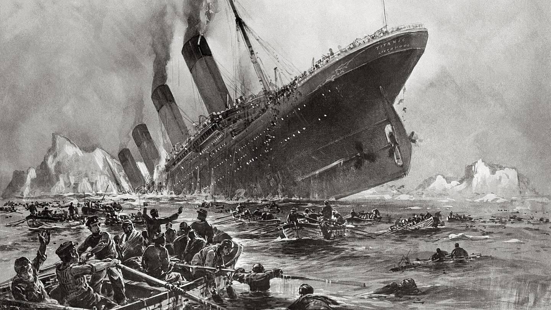 Le naufrage du Titanic, le 14 avril 1912.