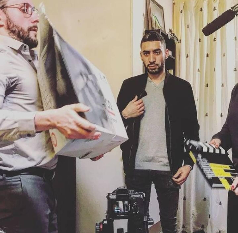 En mars 2019, sur le tournage du court-métrage Alias, du côté d'Enghien-les-Bains.