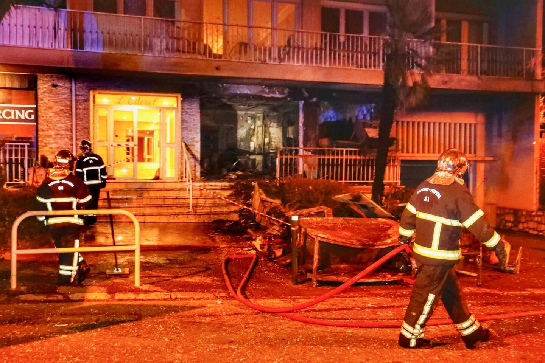 La pizzeria le soir de l'explosion qui avait ravagé les lieux.
