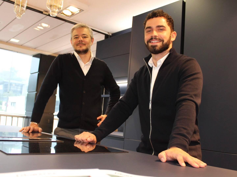 François et Matthias, du magasin Mobalpa de Vallauris.