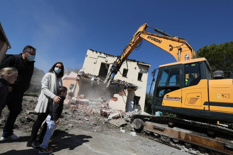 La destruction du hameau de La Brague a commencé en mars.