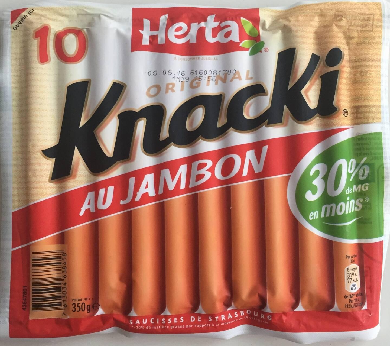 Un paquet de Knacki Herta. La société Herta, poursuivie pour homicide involontaire après la mort en 2014 du petit Lilian, qui s'était étouffé avec un bout de saucisse Knacki, comparaît lundi devant le tribunal correctionnel de Dax.