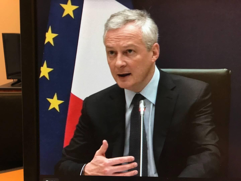 Bruno Le Maire, lors de la présentation de ses perspectives économiques pour 2021 à la presse, ce mardi matin.