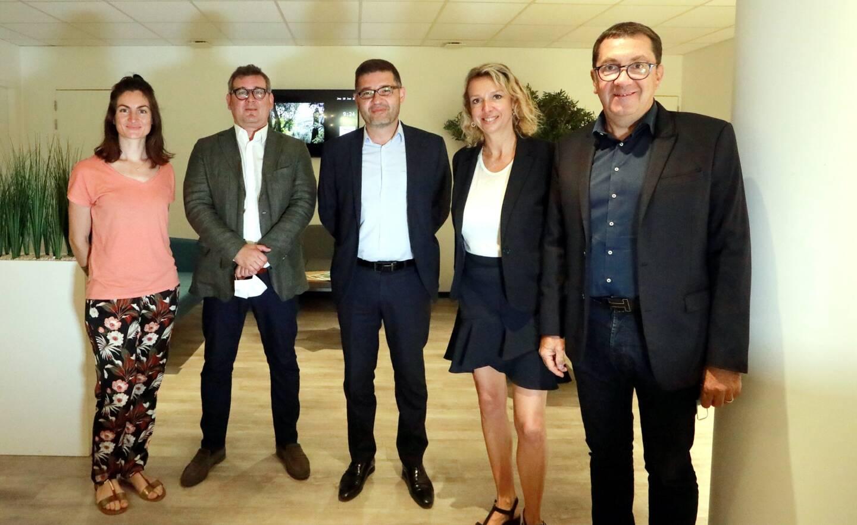 Coline De Georges, Nicolas Legros, Bertrand Wipf-Scheibel, Elodie Fournier et Bruno Valentin.