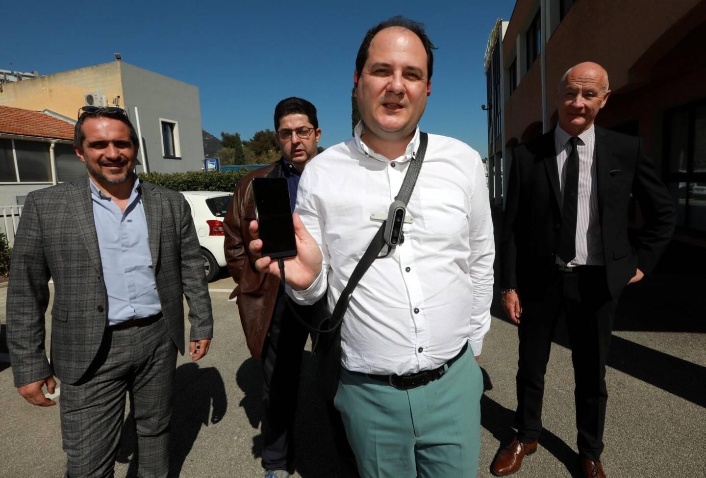 (De droite à gauche) Guy Quillien, le DG varois, Olivier Huet, l'ingénieur à l'origine de Nelo, et Joseph Torres Munar et Laurent Berlluyer, actionnaires.