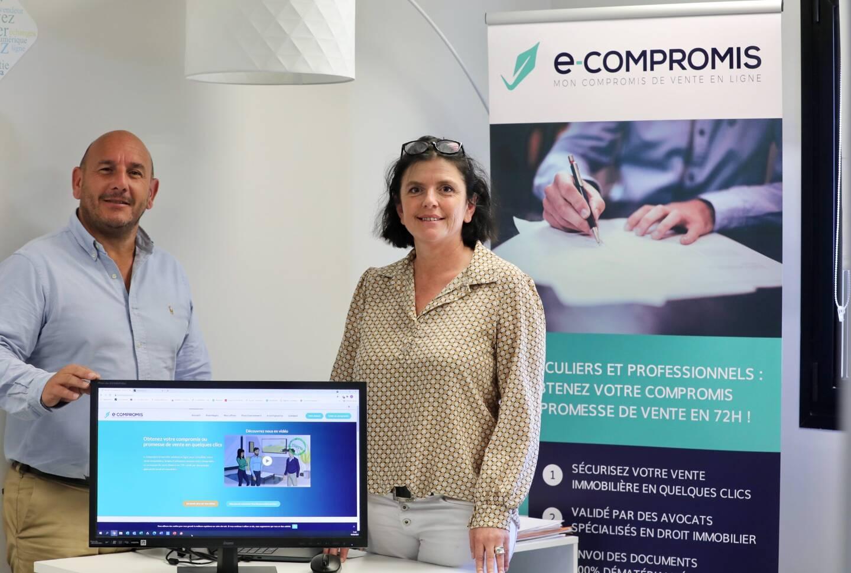 Sandrine Marly et Laurent Guillen, les associés fondateurs créateurs de cette solution.