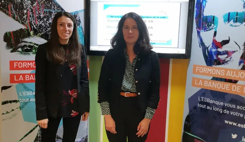 Fabienne Montérymard, coordinatrice pédagogique et Florence Reybaud, responsable de site Nice-Monaco-Corse, s'occupent de l'École supérieure de la banque, basée à Nice.